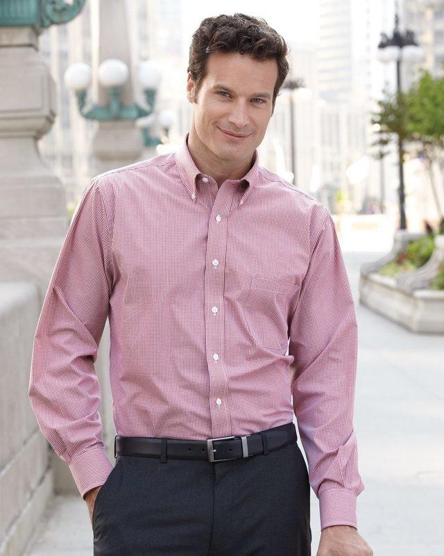 Van Heusen Gingham Check Men's Dress Shirt