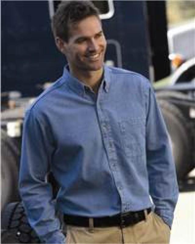 Men's Sierra Pacific Long Sleeve Denim Shirt