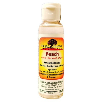 Flavor Essence PEACH (Late Harvest Style) -Unsweetened Natural Flavoring