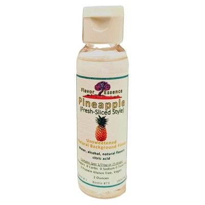 Flavor Essence PINEAPPLE (Fresh-Sliced Style) -Unsweetened Natural Flavoring