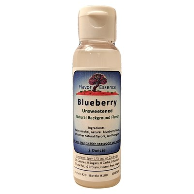 Flavor Essence BLUEBERRY -Unsweetened Natural Flavoring