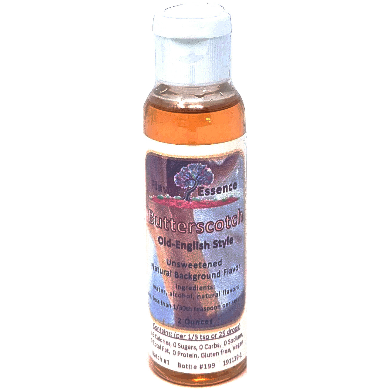 Flavor Essence BUTTERSCOTCH (Old English Style) -Unsweetened Natural Flavoring