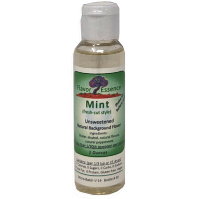 Flavor Essence MINT (Fresh-Cut Style) -Unsweetened Natural Flavoring