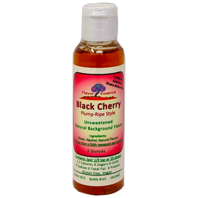 Flavor Essence BLACK CHERRY (plump ripe style)-Unsweetened Natural Flavoring