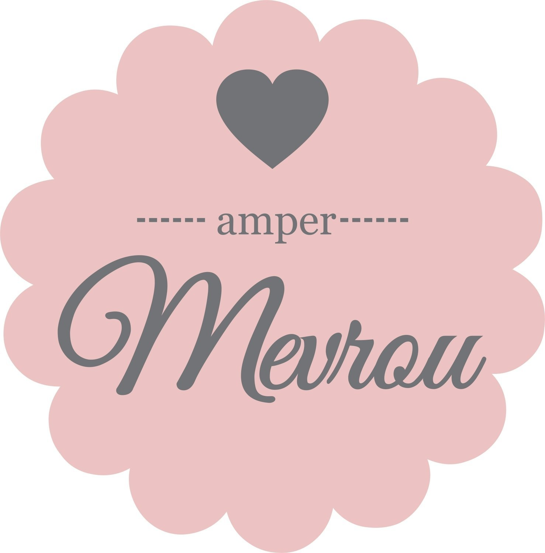 Resepteboeksakkies  - Amper Mevrou (26 x 34 cm)