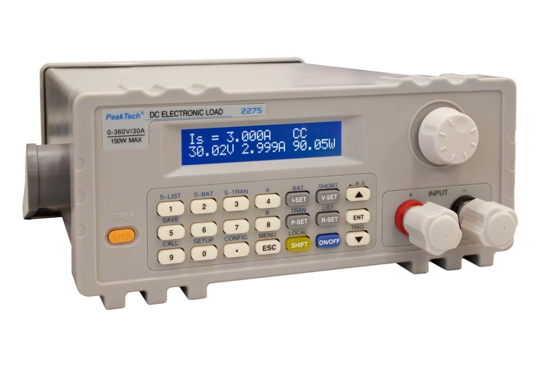 Carga electrónica DC con USB 0-360V/30A, 150W para pruebas después de reparaciones