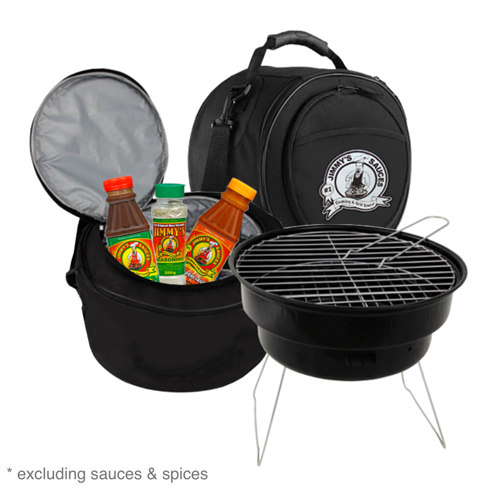 Jimmy's Portable Braai and Cooler Bag Combo