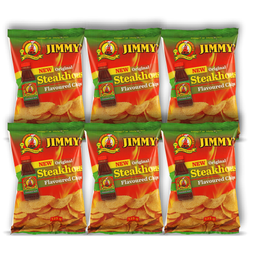 Box of 6 Units of 125g Jimmy's Steakhouse Flavoured Chips