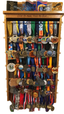 Custom Finisher Medal and Award Rack