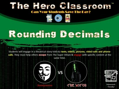 Rounding Decimals Hero Classroom (School License)