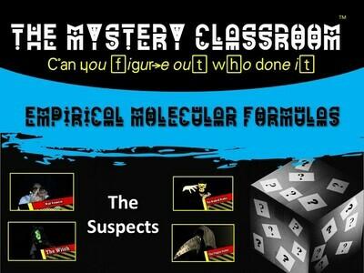 Chemistry: Empirical & Molecular Formulas Mystery (School License)