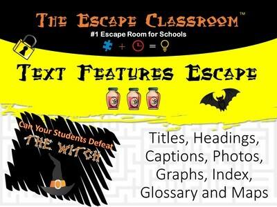 Text Features Escape (1 Teacher License)