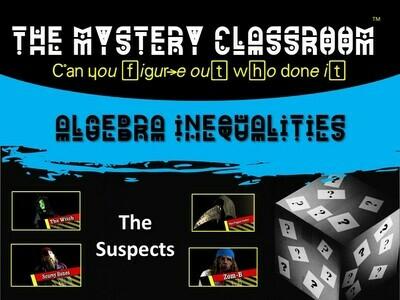 Algebra: Inequalities Mystery (1 Teacher License)