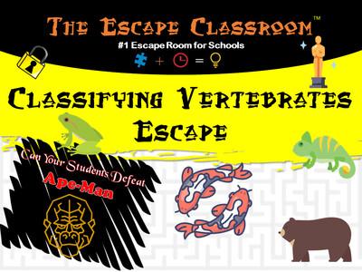 Classifying Vertebrates Escape (1 Teacher License)
