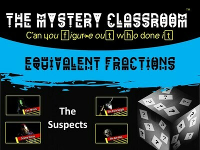 Equivalent Fractions Mystery (1 Teacher License)