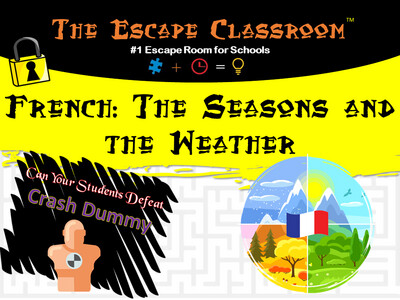 French: Weather and Seasons Escape  (School License)