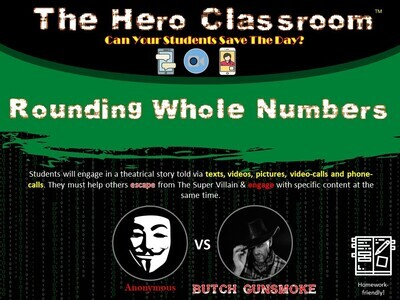 Rounding Whole Numbers Hero Classroom (School License)