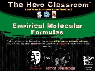 Chemistry: Empirical & Molecular Formulas Hero Classroom (1 Teacher License)