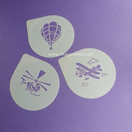 Air Transport Cupcake Stencil Set - Lindy's (LC201)