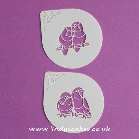 Lovebird Cupcake and Cookie Stencil Set - Lindy's (LC214)