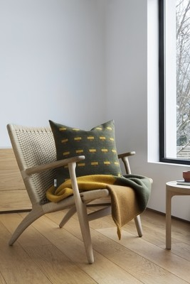 Norwegische Lammwoll Decke Røros Tweed Syndin 135x200cm