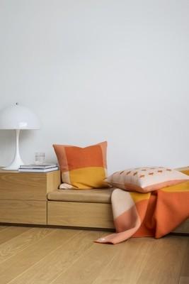 Norwegische Lammwoll Kissen Røros Tweed Syndin 50x50cm