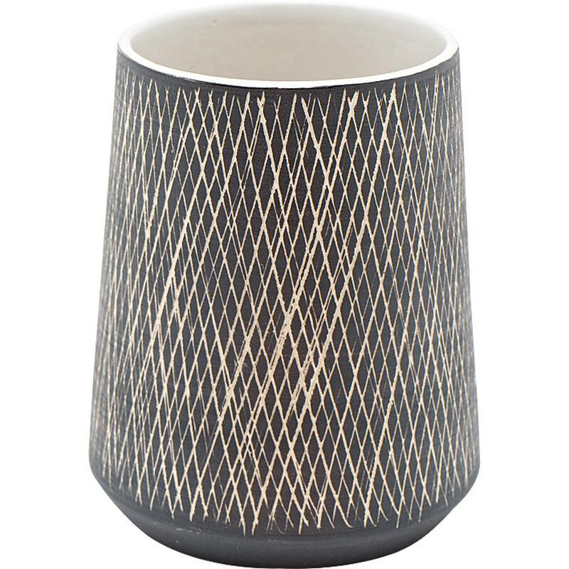 Keramik Vasen • Töpfe mit grafischer Struktur