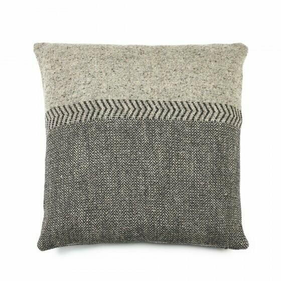 LIBECO Tweed Kissen / Plaid Leinen • Schurwolle