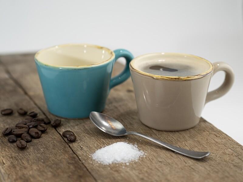Bunte ital. Keramik Espresso-Tasse von Grün & Form