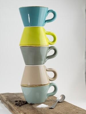 Bunte ital. Keramik Tasse von Grün & Form