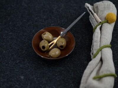 GOA Japan / Oliven Gabel • Edelstahl vergoldet