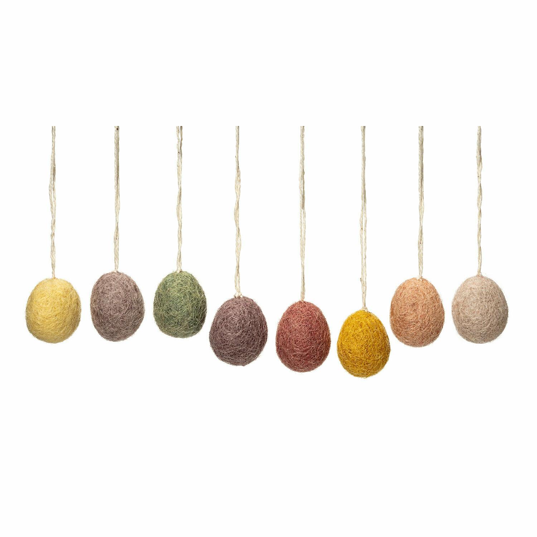 8er Set Mini Filz-Eier