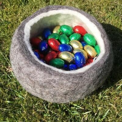 Filz Nest • Schale / Gefäß aus Filz