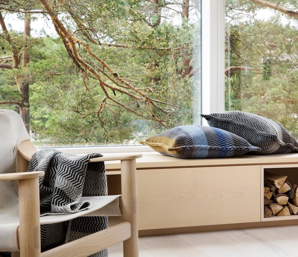 Norwegische FRI Kissen aus 100% Feinwolle Røros Tweed 60x60cm