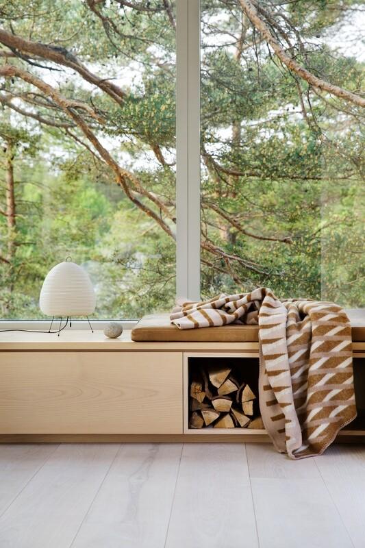 Norwegische Lammwoll Decke Bislett Røros Tweed 135x200cm