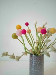 Fair Trade Filz Blumen für vielfälltige Dekozwecke