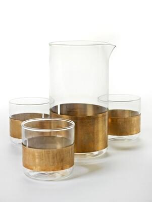 Designer-Glasserie mit Kupferring von SERAX