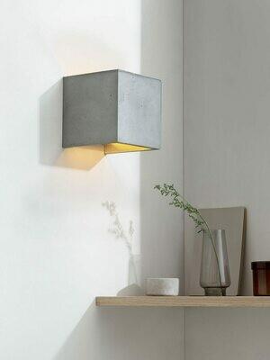 Beton Designer-Wandleuchte 14 x 14 x 14cm