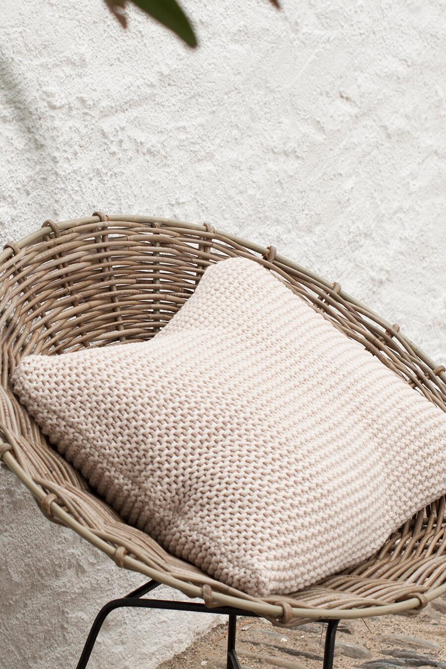 Häkel-Kissen Bobo 50 x 50cm aus 100% Baumwolle von mikmax