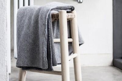 Wende-Plaid Baumwolle • Angora & Cashmere  Handarbeit 130x170cm von mikmax