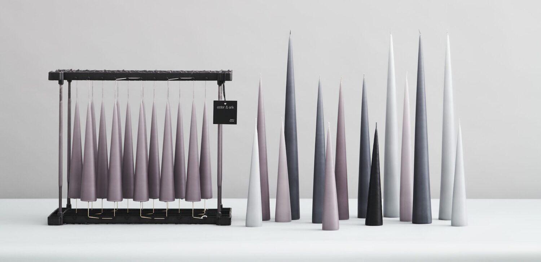 Stearin Kegel-Kerzen 22 und 34cm von ester & erik