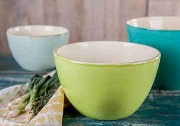 Bunte ital. Keramik Suppenteller • Schüsseln • Schalen  von Grün & Form
