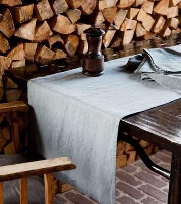 Tischdecken • Tischläufer • Sets • Servietten in 100% Leinen einfarbig Vintage