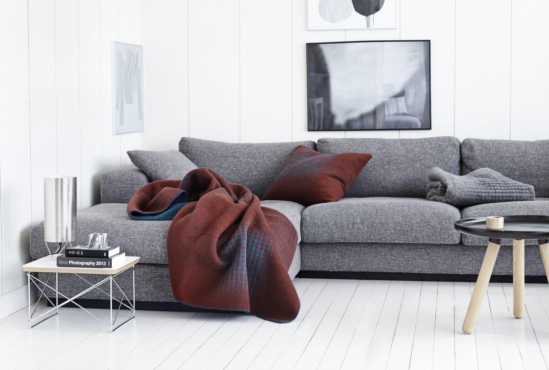 Norwegische Lammwoll Decke Røros Tweed Bernadette 135x200cm
