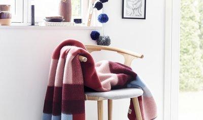Norwegische Lammwoll Decke Røros Tweed Mikkel 135x200cm