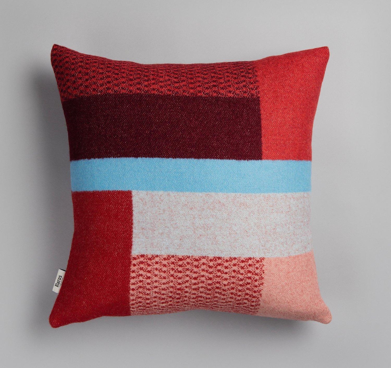 Norwegische Lammwoll Kissen Røros Tweed Mikkel 50x50cm