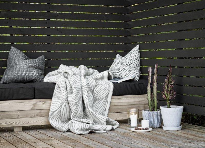 Norwegische Lammwoll Decke Røros Tweed Naturpledd 135x200cm