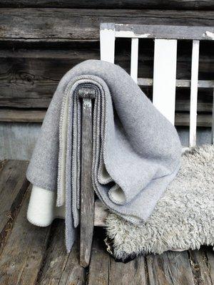 Norwegische Lammwoll Decke Røros Tweed Stemor 135x200cm
