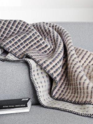 Norwegische Lammwoll Decke Røros Tweed Agnes 135x200cm