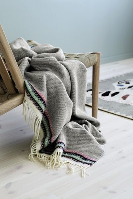 Norwegische Feinwolldecke Røros Tweed Akle 150x210cm